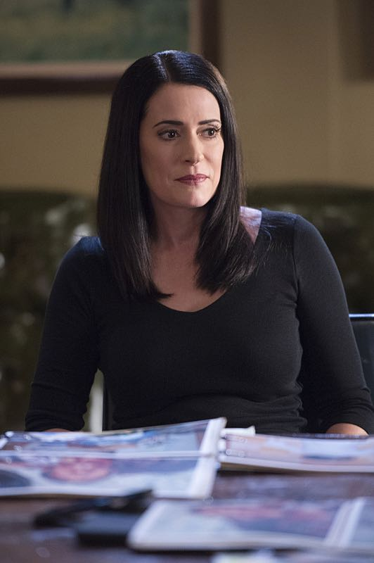 """""""The Anti-Terrorism Squad"""" -- The BAU uses social media to discover an even bigger motive when two high school students survive both of their families deaths in Minnesota, on CRIMINAL MINDS, Wednesday, Nov. 2 (9:00-10:00 PM, ET/PT), on the CBS Television Network. Pictured: Paget Brewster (Emily Prentiss) Photo: Neil Jacobs/CBS ©2016 CBS Broadcasting, Inc. All Rights Reserved"""