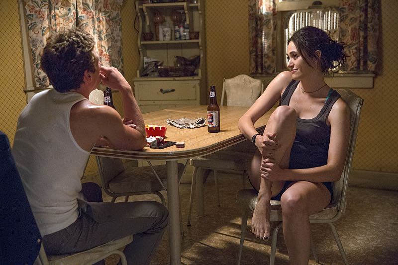 Jeremy Allen White as Lip Gallagher and Emmy Rossum as Fiona Gallagher in Shameless (Season 7, episode 4) - Photo: Cliff Lipson/SHOWTIME - Photo ID: shameless_704_1330
