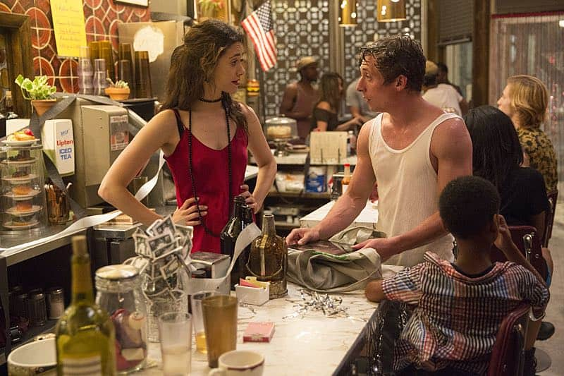 Emmy Rossum as Fiona Gallagher and Jeremy Allen White as Lip Gallagher in Shameless (Season 7, episode 4) - Photo: Patrick Wymore/SHOWTIME - Photo ID: shameless_704_1103