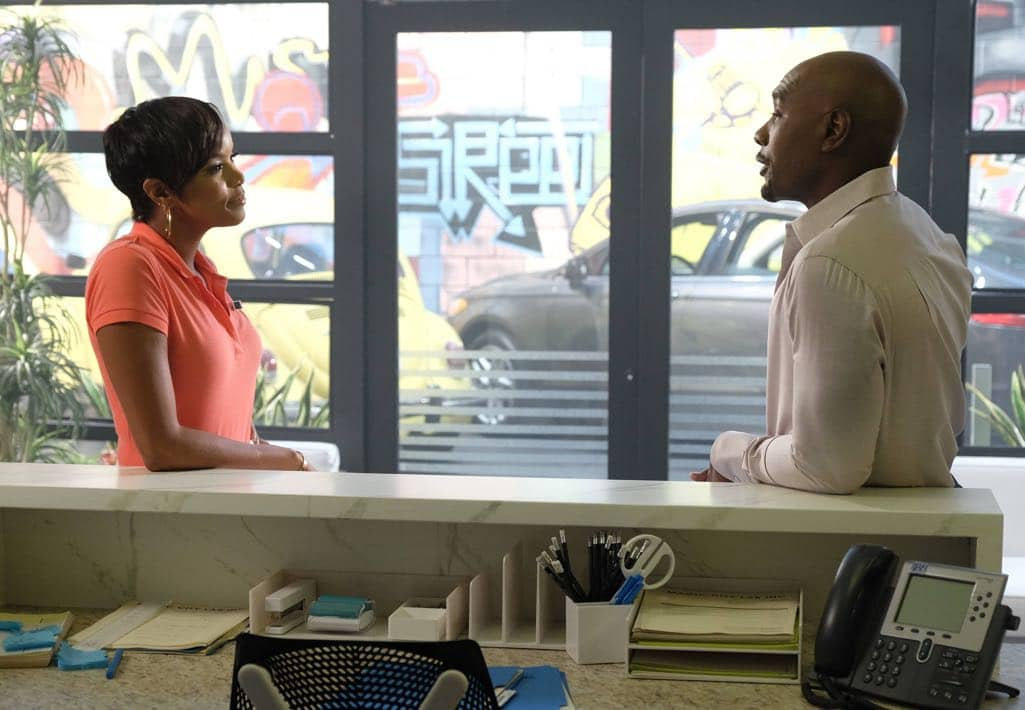 "ROSEWOOD: Pictured L-R: guest star LeToya Luckett and Morris Chestnut in the ""Spirochete & Santeria"" episode of ROSEWOOD airing Thursday, Wednesday Oct. 27 (8:00-8:59 PM ET/PT) on FOX. ©2016 Fox Broadcasting Co. CR: Darren Michaels/FOX"