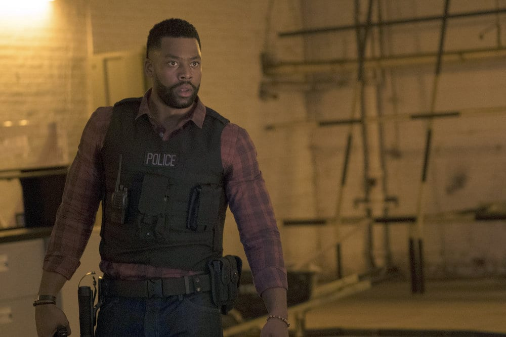 "CHICAGO P.D. -- ""A War Zone"" Episode 404 -- Pictured: LaRoyce Hawkins as Kevin Atwater -- (Photo by: Elizabeth Sisson/NBC)"