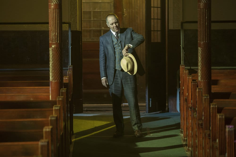 """THE BLACKLIST -- """"The Lindquist Concern #105"""" Episode 405 -- Pictured: James Spader as Raymond """"Red"""" Reddington -- (Photo by: Eric Liebowitz/NBC)"""