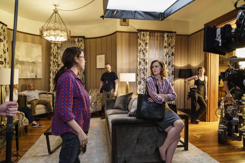 BTS, Director Karen Kusama, Kerry Bishe as Donna Clark- Halt and Catch Fire _ Season 3, Episode 7 - Photo Credit: Tina Rowden/AMC