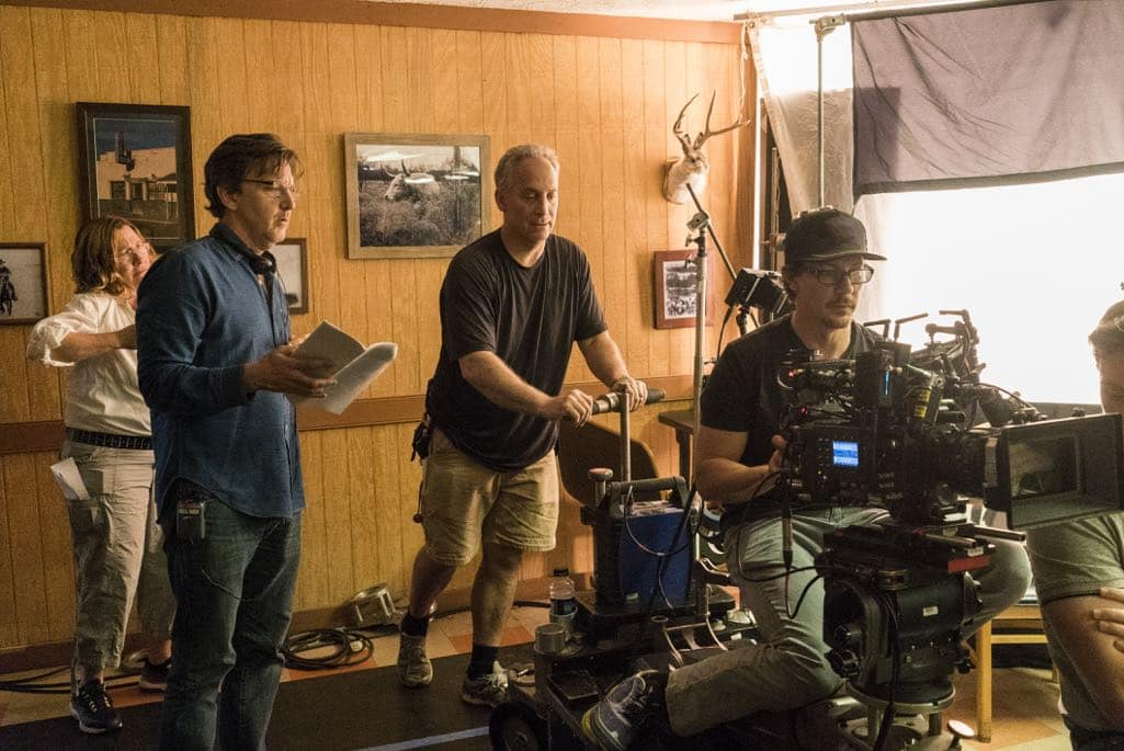 BTS, Director Andrew McCarthy- Halt and Catch Fire _ Season 3, Episode 5  - Photo Credit: Tina Rowden/AMC