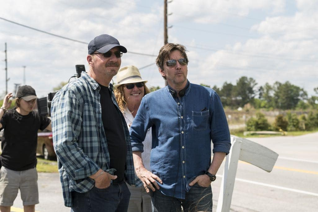 BTS, Director Andrew McCarthy - Halt and Catch Fire _ Season 3, Episode 5  - Photo Credit: Tina Rowden/AMC
