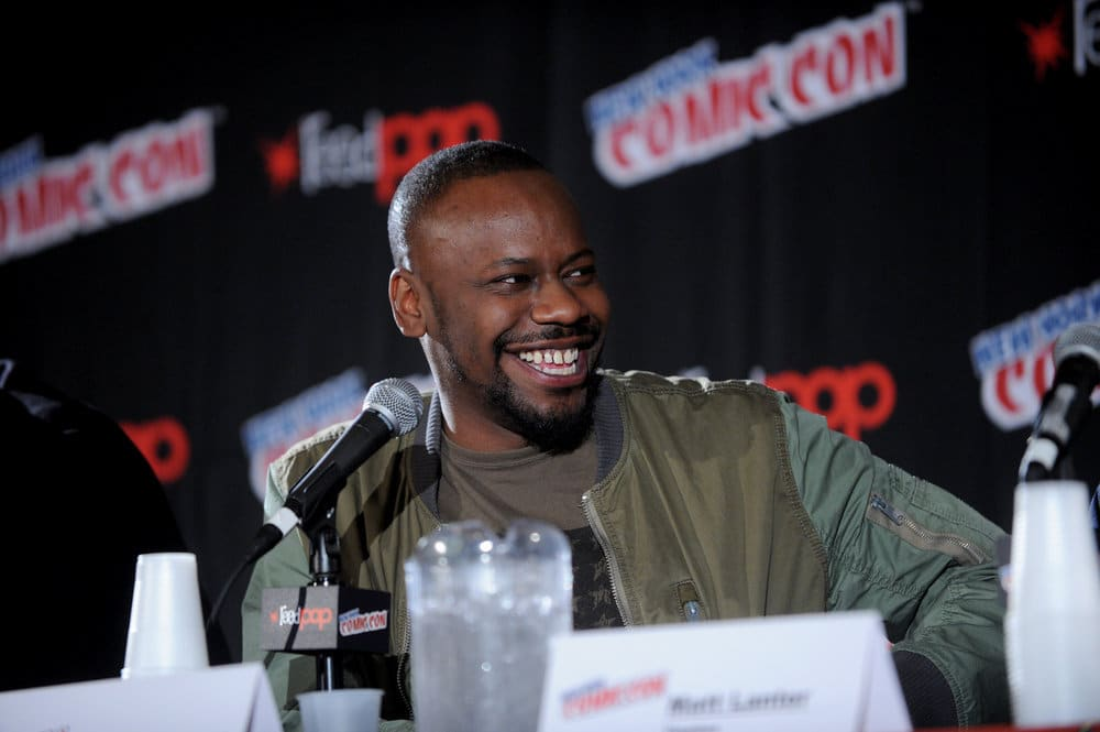 "NEW YORK COMIC CON 2016 -- ""Timeless"" Panel -- Pictured: Malcolm Barrett on Sunday, October 9, 2016 from the Javits Center in New York, NY -- (Photo by: Brad Barket/NBC)"