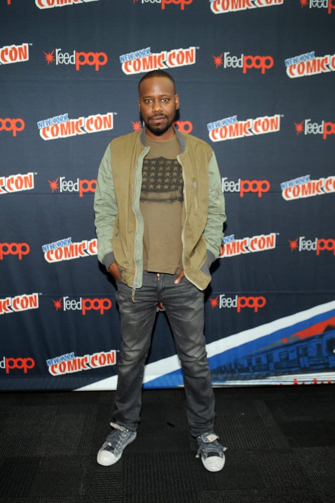 "NEW YORK COMIC CON 2016 -- ""Timeless"" Press Room -- Pictured: Malcolm Barrett on Sunday, October 9, 2016 from the Javits Center in New York, NY -- (Photo by: Brad Barket/NBC)"