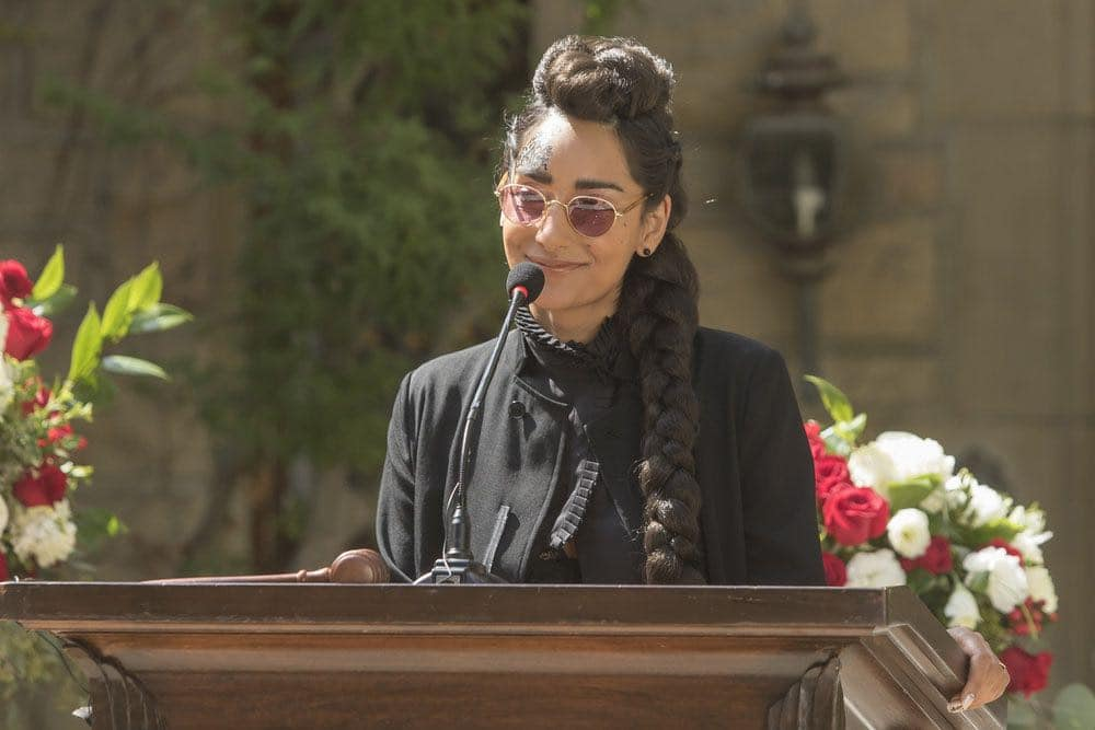 """THE GOOD PLACE -- """"Category 55 Emergency Doomsday Crisis"""" Episode 109 -- Pictured: Rebecca Hazlewood as Kamilah -- (Photo by: Ron Batzdorff/NBC)"""
