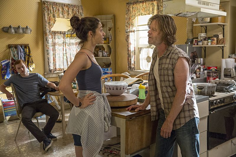 Emmy Rossum as Fiona Gallagher and William H. Macy as Frank Gallagher in Shameless (Season 7, episode 2) - Photo: Cliff Lipson/SHOWTIME - Photo ID: shameless_702_0104