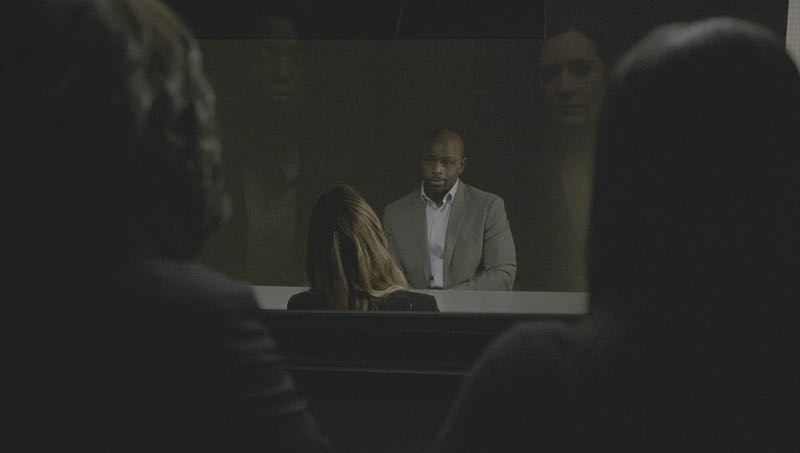 """""""Mirror Image"""" -- The BAU team opens an investigation when a man who fully believes he's Dr. Tara Lewis' (Aisha Tyler) brother arrives in town, knowing everything about her and her family, and she is unable to make contact with her real sibling, on CRIMINAL MINDS, Wednesday, Nov. 30 (9:00-10:00 PM, ET/PT), on the CBS Television Network. Series star Joe Mantegna directed the episode. Pictured: Aisha Tyler (Dr. Tara Lewis), Alimi Ballard (Desmond Holt), Paget Brewster (Emily Prentiss) Photo: CBS ©2016 CBS Broadcasting, Inc. All Rights Reserved"""