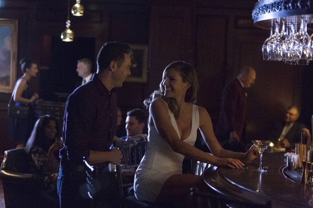 """LUCIFER: L-R: Kevin Alejandro and Tricia Helfer in the """"Homewrecker"""" episode of LUCIFER airing Monday, Nov. 21 (9:01-10:00 PM ET/PT) on FOX. ©2016 Fox Broadcasting Co. Cr: Michael Courtney/FOX."""