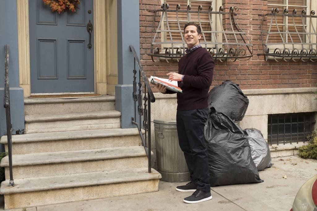 "BROOKLYN NINE-NINE: Andy Samberg in the ""Mr. Santiago"" episode of BROOKLYN NINE-NINE airing Tuesday, Nov. 22 (8:00-8:31 PM ET/PT) on FOX.CR: John P Fleenor/FOX"