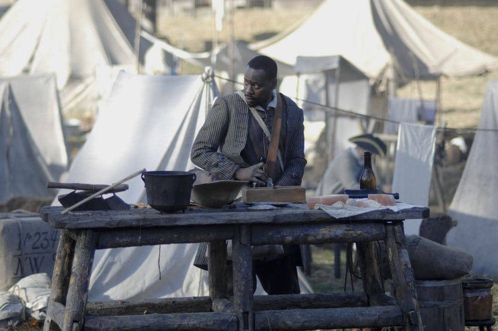 """TIMELESS -- """"Stranded"""" Episode 106 -- Pictured: Malcolm Barrett as Rufus Carlin -- (Photo by: Sergei Bachlakov/NBC)"""