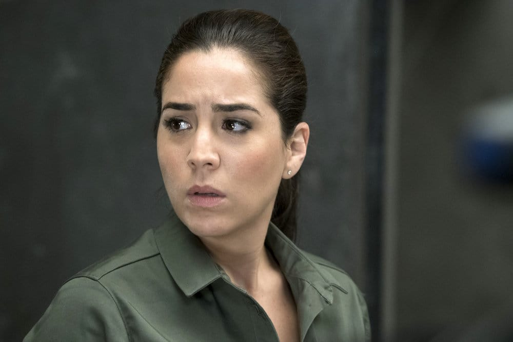 """BLINDSPOT -- """"Why Let Cooler Pasture Deform"""" Episode 209 -- Pictured: Audrey Esparza as Tasha Zapata -- (Photo by: Virginia Sherwood/NBC)"""
