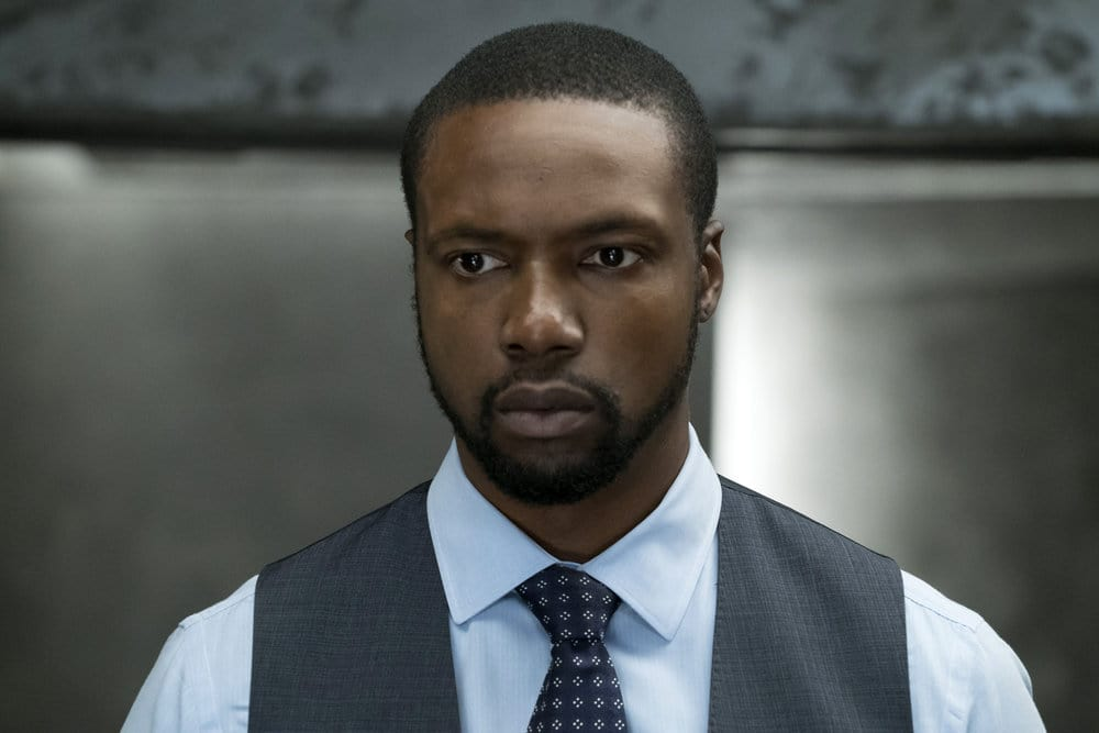 """BLINDSPOT -- """"Why Let Cooler Pasture Deform"""" Episode 209 -- Pictured: Rob Brown as Edgar Reade -- (Photo by: Virginia Sherwood/NBC)"""