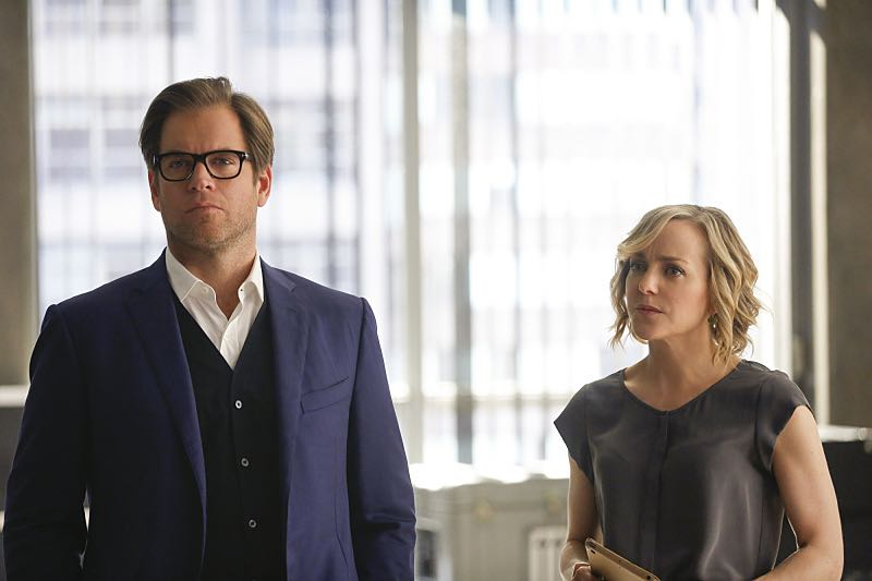 """""""Bedside Manner""""---- Bull must find a way to reverse the negative effect his egomaniacal client, a surgeon with a God complex being sued for malpractice, has on the jury. Also, Bull hires Liberty Davis (Dena Tyler), a previous client's attorney, when he decides Benny may not be sympathetic enough to the jurors, on BULL, Tuesday, Nov. 15 (9:00-10:00 PM, ET/PT) on the CBS Television Network. Pictured L-R: Michael Weatherly as Dr. Jason Bull and Geneva Carr as Marissa Morgan Photo: Craig Blankenhorn/CBS ©2016CBS Broadcasting, Inc. All Rights Reserved"""