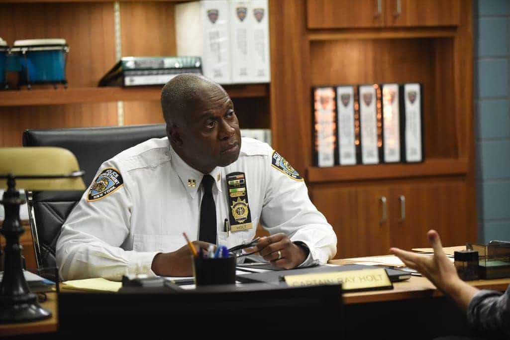 "BROOKLYN NINE-NINE: Andre Braugher in the ""The Overmining"" episode of BROOKLYN NINE-NINE airing Tuesday, Dec. 6 (8:00-8:31 PM ET/PT) on FOX. CR: Ray Mickshaw/FOX"