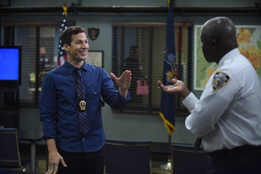 "BROOKLYN NINE-NINE: Andy Samberg in the ""The Overmining"" episode of BROOKLYN NINE-NINE airing Tuesday, Dec. 6 (8:00-8:31 PM ET/PT) on FOX. CR: Ray Mickshaw/FOX"