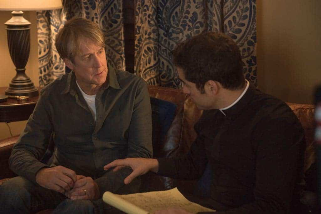 """THE EXORCIST: L-R: Alan Ruck and Alfonso Herrera in the """"Chapter Nine: 162"""" episode of THE EXORCIST airing Friday, Dec. 9 (9:01-10:00 PM ET/PT) on FOX. ©2016 Fox Broadcasting Co. Cr: Jean Whiteside/FOX"""