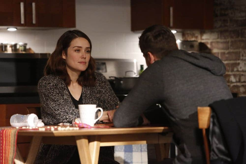 "THE BLACKLIST -- ""Natalie Luca #184"" Episode 412 -- Pictured: (l-r) Megan Boone as Elizabeth Keen, Ryan Eggold as Tom Keen -- (Photo by: Will Hart/NBC)"
