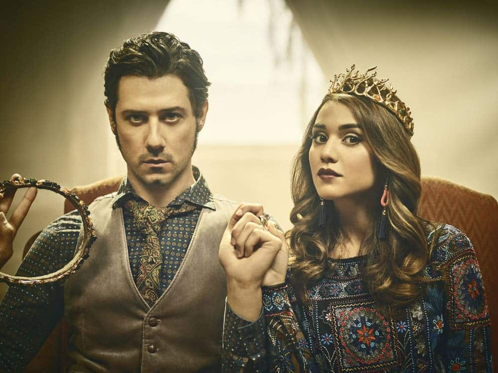 THE MAGICIANS -- Season:2 -- Pictured: (l-r) Hale Appleman as Eliot, Summer Bishil as Margo -- (Photo by: Jason Bell/Syfy)