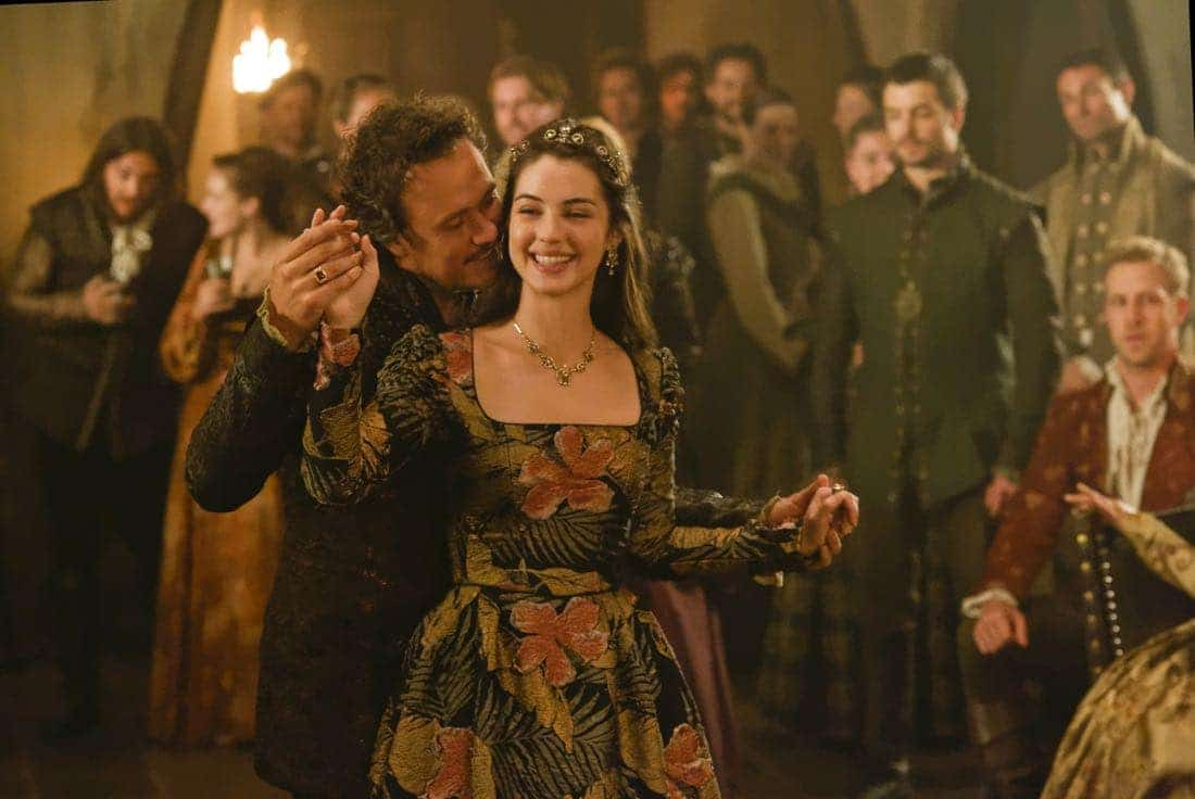 """Reign -- """"Leaps of Faith"""" -- Image Number: RE403a_0215.jpg -- Pictured (L-R) Ben Geurens as Gideon and Adelaide Kane as Mary, Queen of Scots -- Photo: Ben Mark Holzberg/The CW -- © 2017 The CW Network, LLC. All Rights Reserved"""