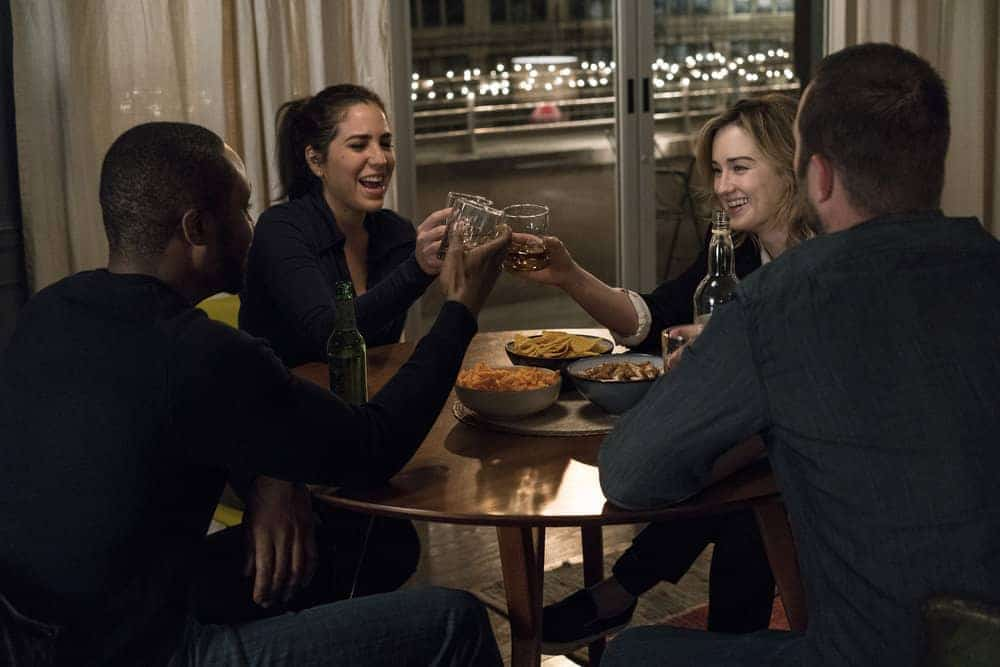 "BLINDSPOT -- ""Evil Did I Dwell, Lewd Did I Live"" Episode 216 -- Pictured: (l-r) Rob Brown as Edgar Reed, Audrey Esparza as Tasha Zapata, Ashley Johnson as Patterson"