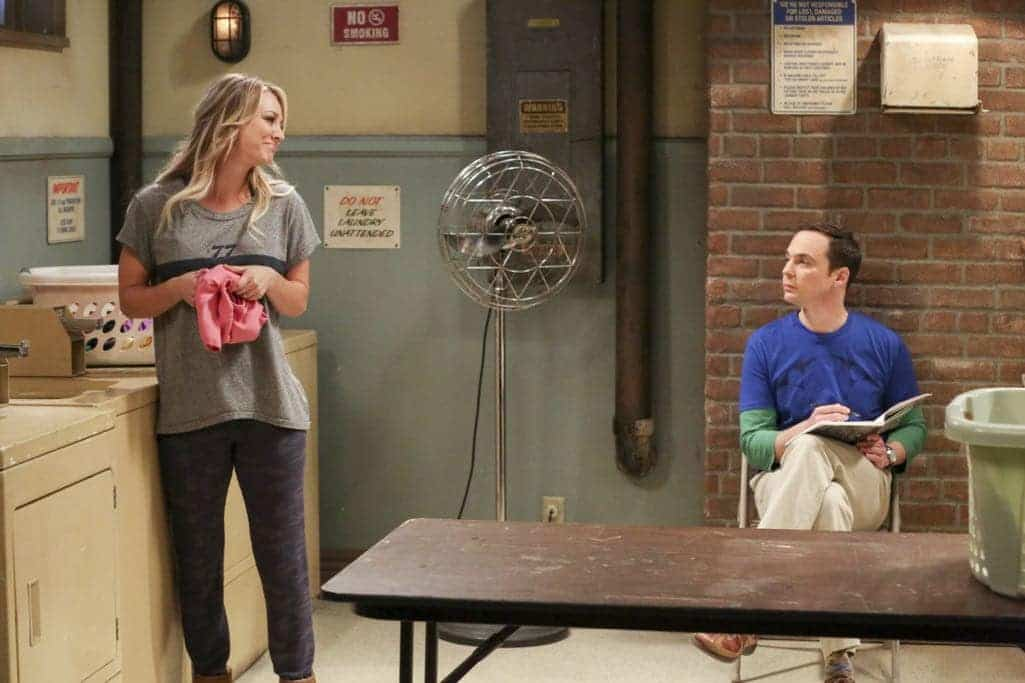 Sheldon and Penny In Laundry Room