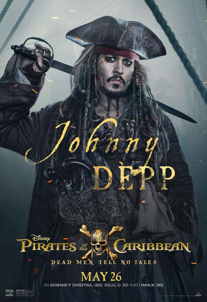 Pirates of the Caribbean: Dead Men Tell No Tales Johnny Depp Poster