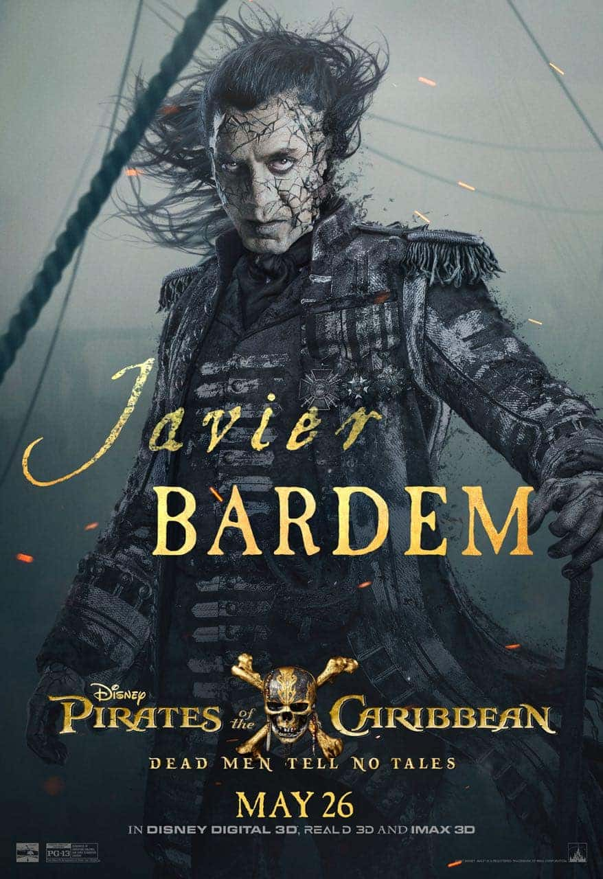 Pirates of the Caribbean: Dead Men Tell No Tales Javier Bardem Poster