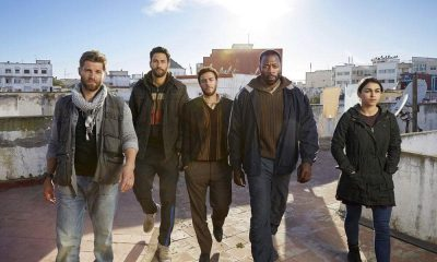 "Brave -- Season: Pilot -- Pictured: (l-r) Mike Vogel as Michael Dalton, Noah Mills as Joseph J. McGuire, Hadi Tabbal as Amir Al-Rasani, Demetrius Grosse as Anthony ?""Preach?"" Carter, Natacha Karam as Jasmine ""Jaz"" Ervin"