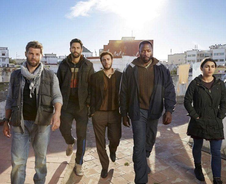 "Brave -- Season: Pilot -- Pictured: (l-r) Mike Vogel as Michael Dalton, Noah Mills as Joseph J. McGuire, Hadi Tabbal as Amir Al-Rasani, Demetrius Grosse as Anthony ?""Preach?"" Carter, Natacha Karam as Jasmine ""Jaz"" Ervin"