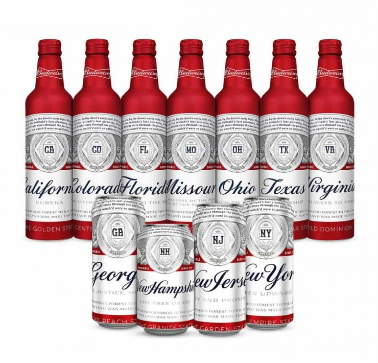 Budweiser unveils new state packaging