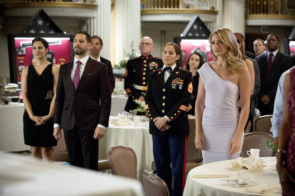 """SHOOTER -- """"The Hunting Party"""" Episode 201 -- Pictured: (l-r) Jaina Lee Ortiz as Angela Tio, Shantel Vansanten as Julie Swagger"""