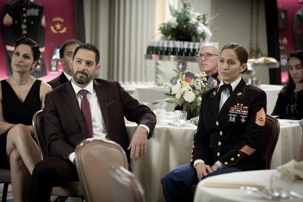 """SHOOTER -- """"The Hunting Party"""" Episode 201 -- Pictured: Jaina Lee Ortiz as Angela Tio"""