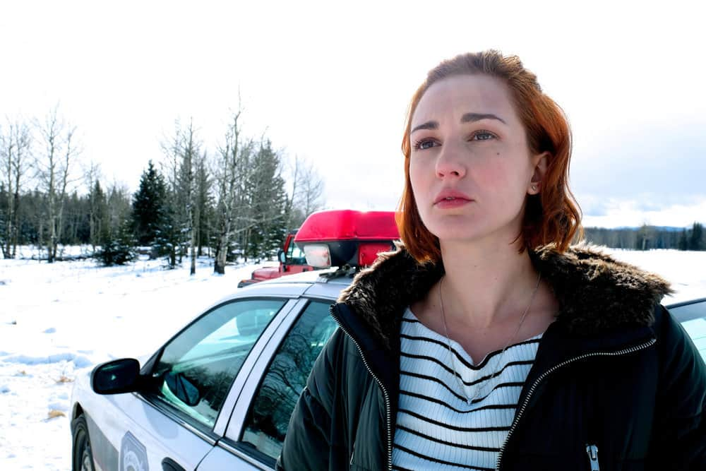 """WYNONNA EARP -- """"Everybody Knows"""" Episode 207 -- Pictured: Katherine Barrell as Officer Nicole Haught"""