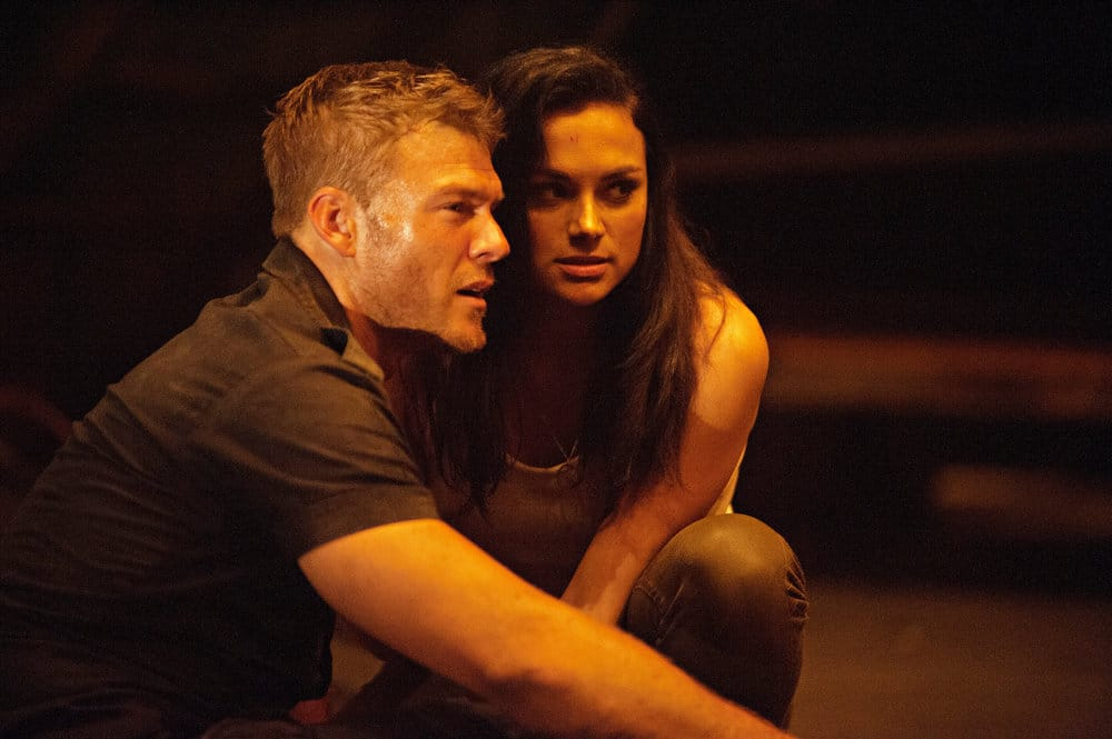 "BLOOD DRIVE -- ""Gentleman's Agreement"" Episode 107 -- Pictured: (l-r) Alan Ritchson as Arthur, Christina Ochoa as Grace"