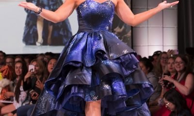 Ashley Eckstein - Cinderella-inspired gown by Andrew MacLaine