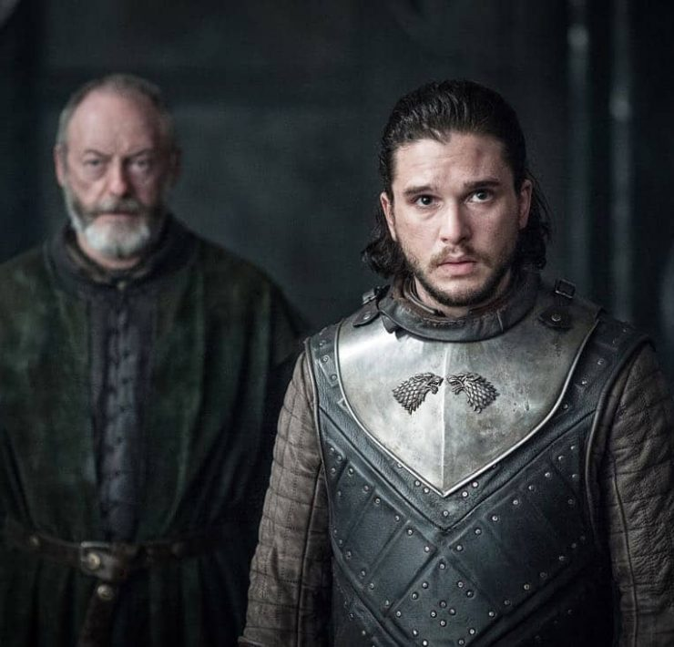Episode 63 (season 7, episode 3), debut 7/30/17: Liam Cunningham, Kit Harington. photo: Helen Sloan/courtesy of HBO