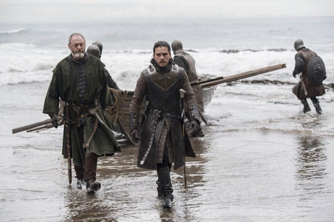 Episode 63 (season 7, episode 3), debut 7/30/17: Liam Cunningham, Kit Harington. photo: Macall B. Polay/courtesy of HBO