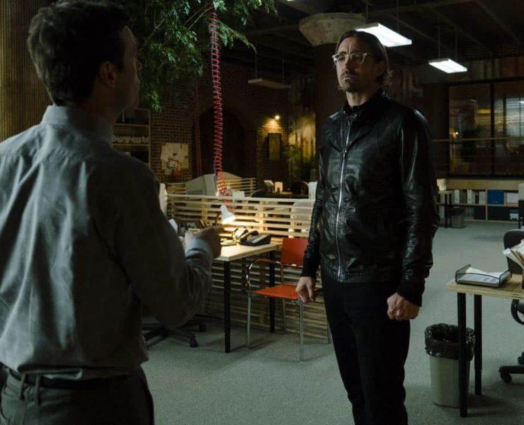 Lee Pace as Joe MacMillan, Scoot McNairy as Gordon Clark- Halt and Catch Fire _ Season 4, Episode 1 - Photo Credit: Gene Page/AMC