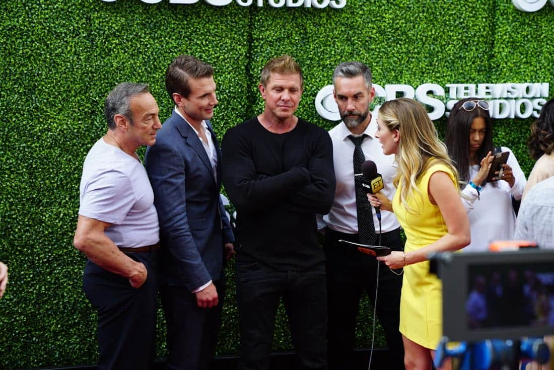 Peter Onorati, Alex Russel, Kenny Johnson and Jay Harrington from SWAT at the CBS Summer Soirée, held on August 1, 2017 in Los Angeles, CA. Photo: Sonja Flemming/CBS ©2017 Broadcasting Inc. All Rights Reserved