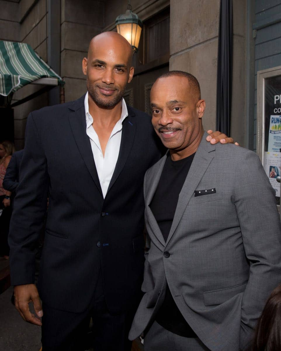Boris Kodjoe and Rocky Carroll at the CBS Summer Soirée for the annual TCA press tour, held on August 1, 2017 in Los Angeles, CA. Photo: Jon Endow/CBS ©2017 Broadcasting Inc. All Rights Reserved