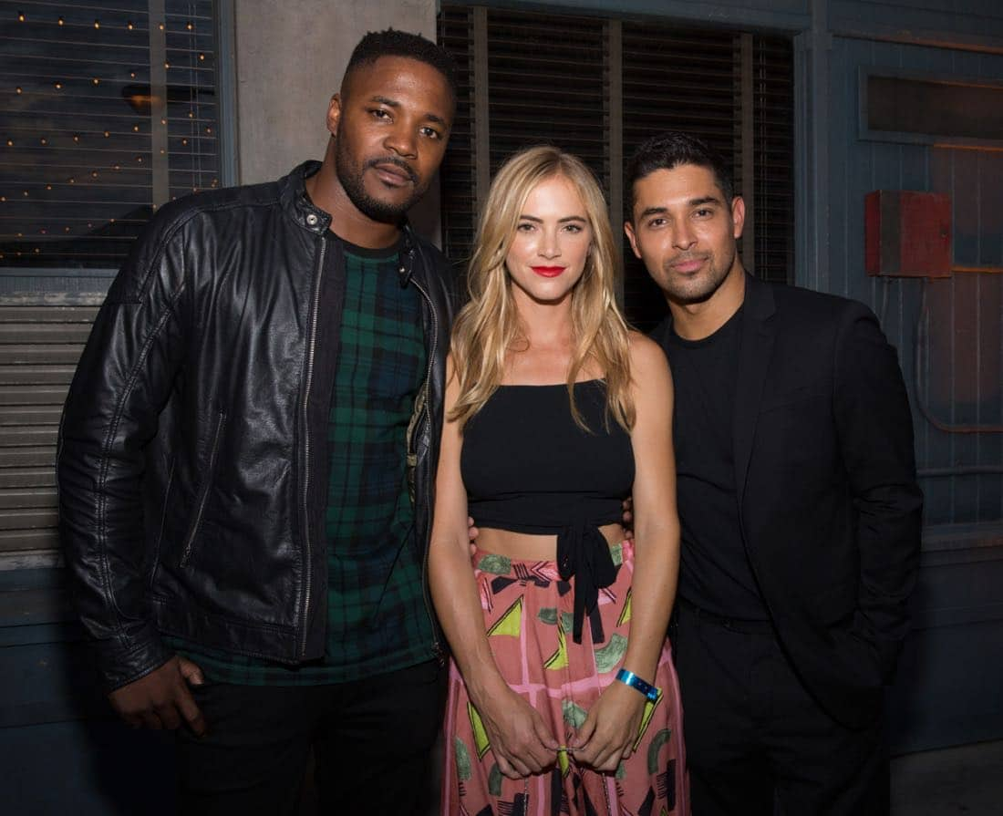 Duane Henry, Emily Wickersham, Wilmer Valderrama at the CBS Summer Soirée for the annual TCA press tour, held on August 1, 2017 in Los Angeles, CA. Photo: Jon Endow/CBS ©2017 Broadcasting Inc. All Rights Reserved