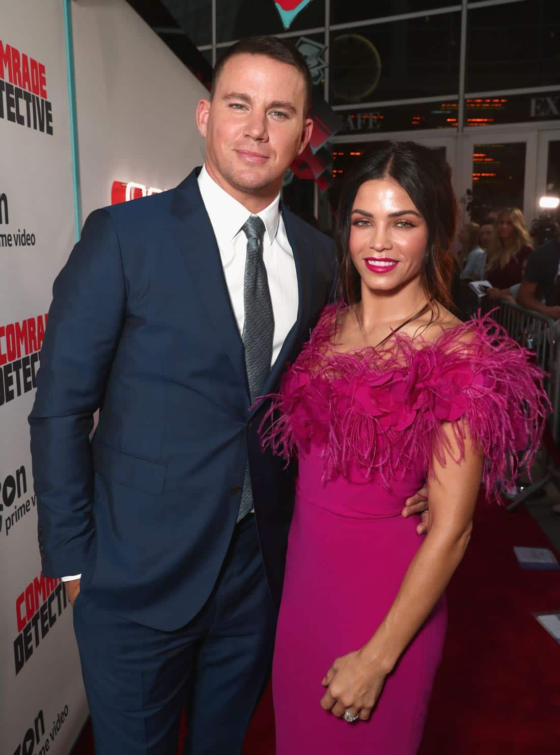 "LOS ANGELES, CA - AUGUST 03: Actors Channing Tatum (L) and Jenna Dewan Tatum attend Amazon Prime Video Premiere Of Original Comedy Series ""Comrade Detective"" In Los Angeles on August 3, 2017 in Los Angeles, California. (Photo by Todd Williamson/Getty Images for Amazon Studios)"