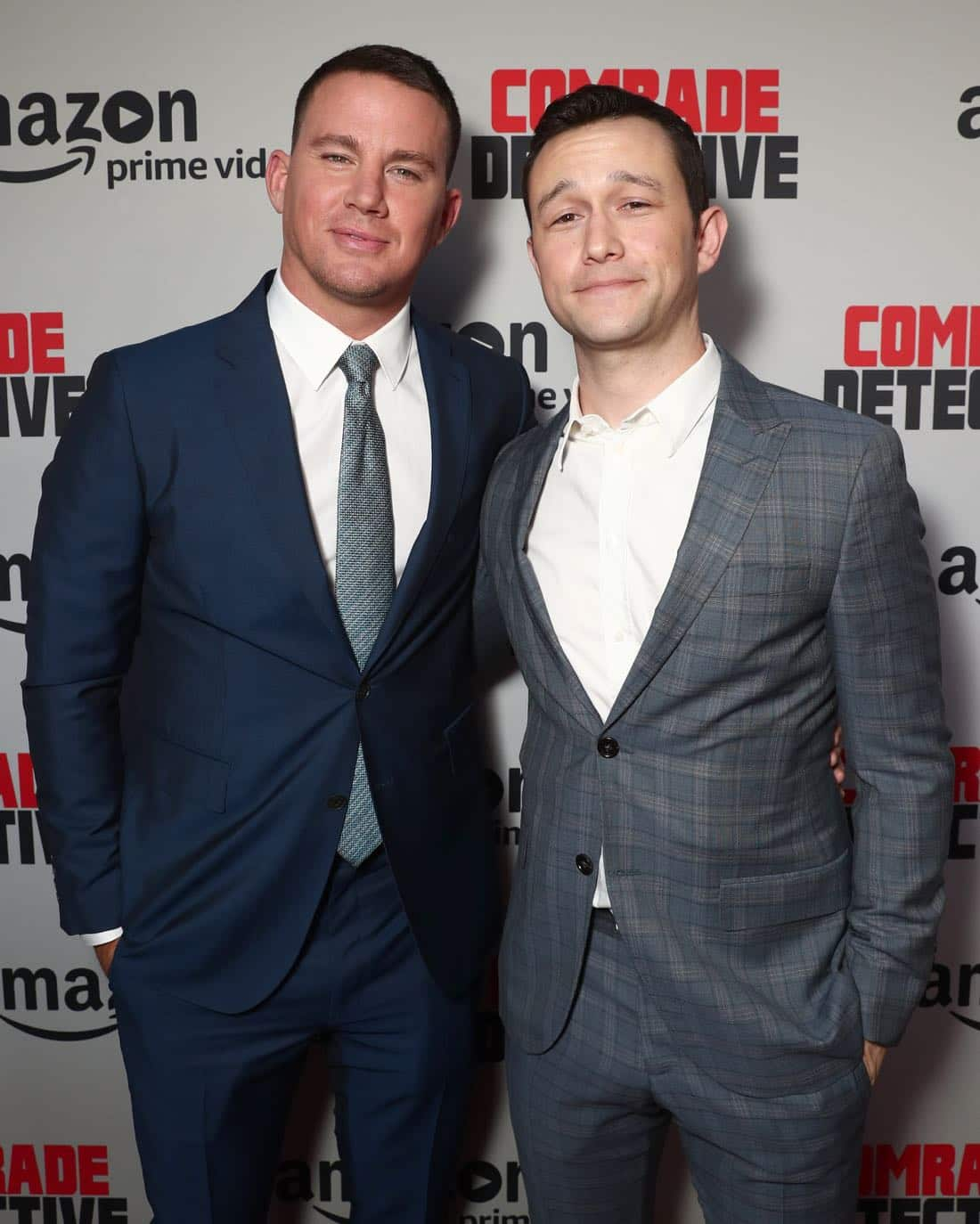 "LOS ANGELES, CA - AUGUST 03: Channing Tatum and Joseph Gordon-Levitt attend the Amazon Prime Video Premiere Of Original Comedy Series ""Comrade Detective"" In Los Angeles on August 3, 2017 in Los Angeles, California. (Photo by Todd Williamson/Getty Images for Amazon Studios)"