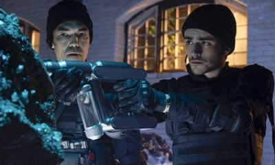 """Chip Off the Ol' Block"" - Darius recruits Grace, Harris and Liam for a dangerous mission, and Jillian confronts Liam about his secret, on SALVATION, Wednesday, August 9 (9:00-10:00, ET/PT). Pictured: Ian Anthony Dale, Charlie Rowe. Photo: Ben Mark Holzberg/CBS ©2017 CBS Broadcasting Inc. All Rights Reserved"