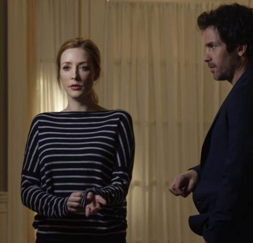 """Chip Off the Ol' Block"" - Darius recruits Grace, Harris and Liam for a dangerous mission, and Jillian confronts Liam about his secret, on SALVATION, Wednesday, August 9 (9:00-10:00, ET/PT). Pictured: Jennifer Finnigan, Santiago Cabrera. Photo: Ben Mark Holzberg/CBS ©2017 CBS Broadcasting Inc. All Rights Reserved"