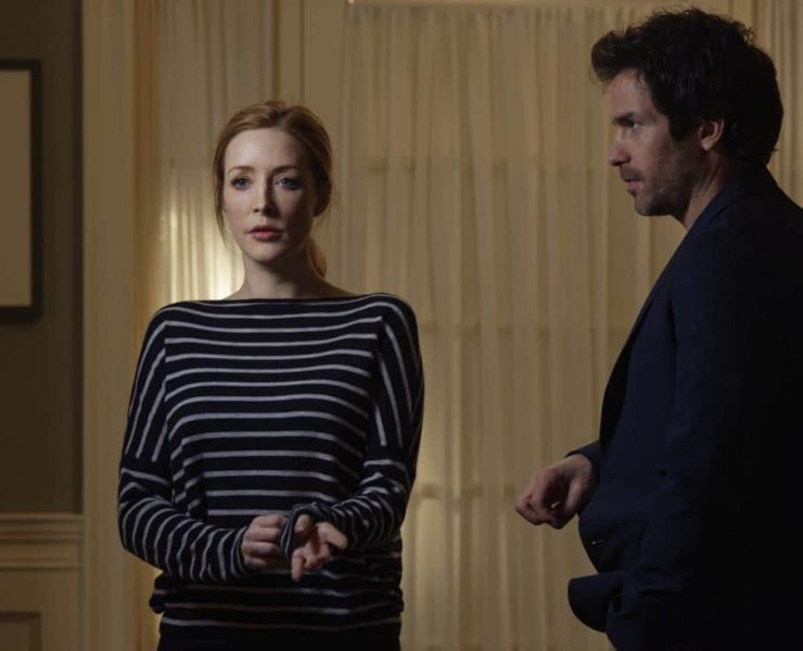 """""""Chip Off the Ol' Block"""" - Darius recruits Grace, Harris and Liam for a dangerous mission, and Jillian confronts Liam about his secret, on SALVATION, Wednesday, August 9 (9:00-10:00, ET/PT). Pictured: Jennifer Finnigan, Santiago Cabrera. Photo: Ben Mark Holzberg/CBS ©2017 CBS Broadcasting Inc. All Rights Reserved"""