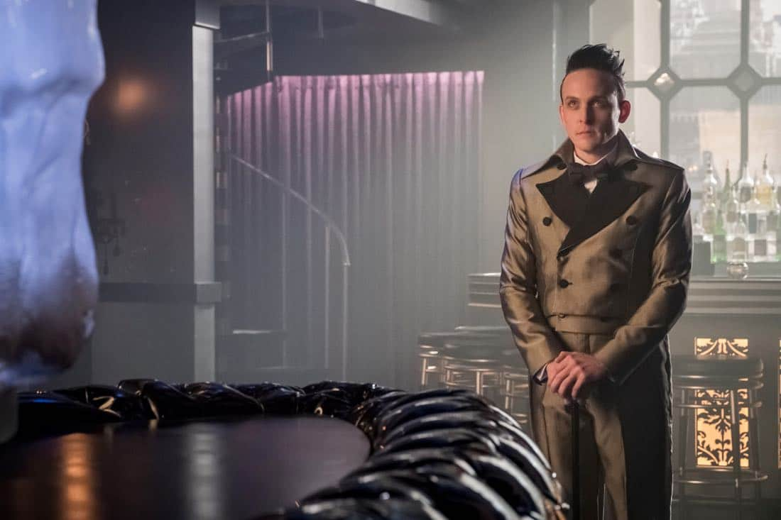 "GOTHAM: Robin Lord Taylor in the ""Pax Penguina"" season premiere episode of GOTHAM airing Thursday, Sept. 21 (8:00-9:01 PM ET/PT) on FOX. ©2017 Fox Broadcasting Co. Cr: Jeff Neumann/FOX."